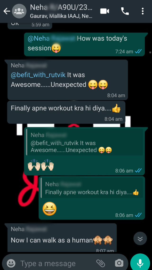 Neha Its All About Journey Testimonial